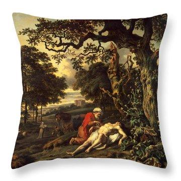 Parable Of The Good Samaritan Throw Pillow
