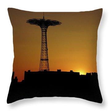 Parachute Jump Coney Island Throw Pillow