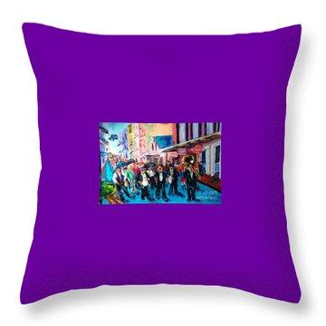 Parade For Joe Throw Pillow