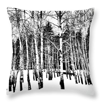 Parade Of Aspens Throw Pillow