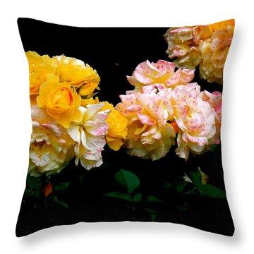 Parade Of Roses  Throw Pillow