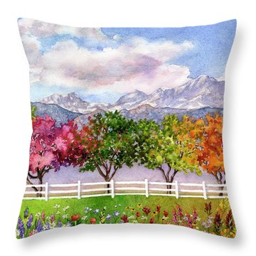 Parade Of The Seasons Throw Pillow