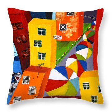 Parade The Day After Throw Pillow