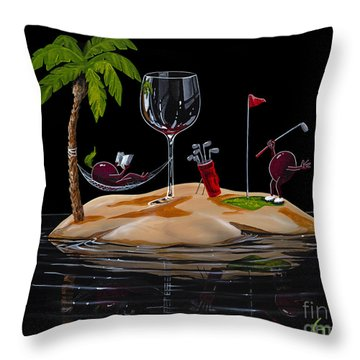Paradise At Last Throw Pillow