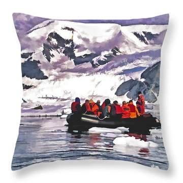 Paradise Bay  Throw Pillow by Dennis Cox