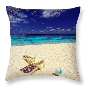 Paradise Beach Ball Throw Pillow