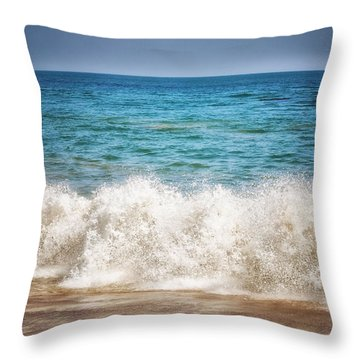 Paradise Cove Throw Pillow by Tricia Marchlik