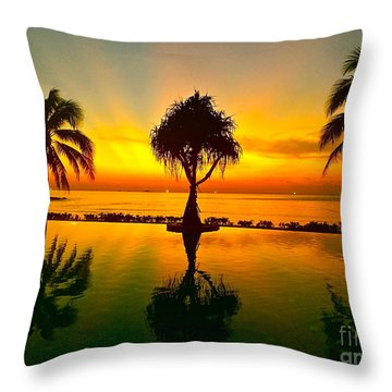 Paradise Throw Pillow by Dorota Nowak