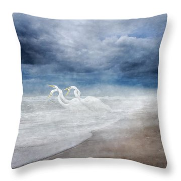 Paradise Dreamland  Throw Pillow by Betsy Knapp