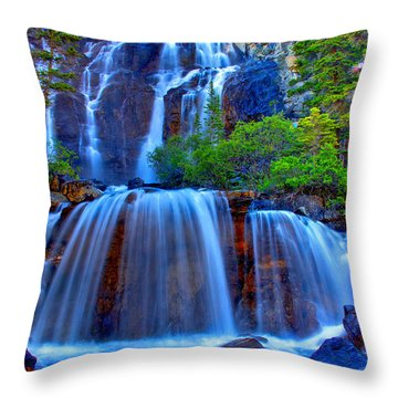 Paradise Falls Throw Pillow