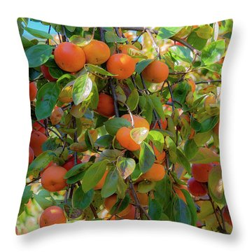Paradise For Persimmons Throw Pillow