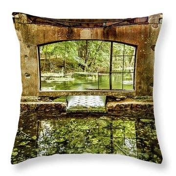 Paradise Forgotten Throw Pillow