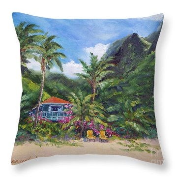 Paradise Found Throw Pillow