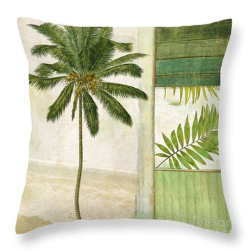 Paradise II Palm Tree Throw Pillow