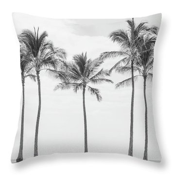 Paradise In Black And White II Throw Pillow