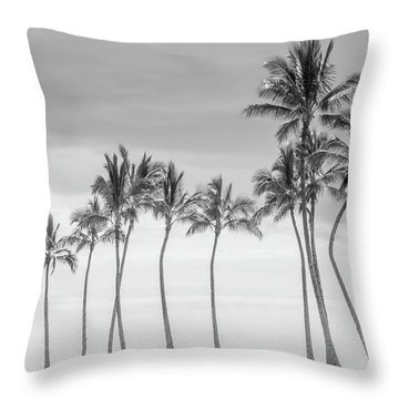 Paradise In Black And White Throw Pillow