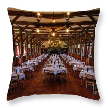 Paradise Inn Dining Room Throw Pillow