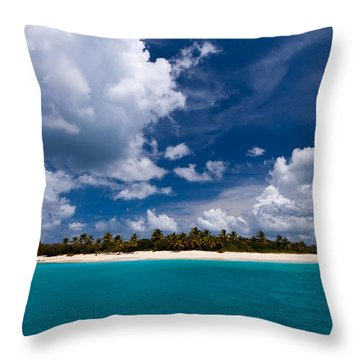 Paradise Is Sandy Cay Throw Pillow
