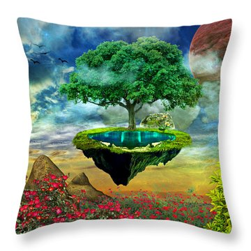 Paradise Island Throw Pillow