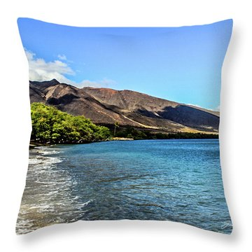 Throw Pillow featuring the photograph Paradise by Joann Copeland-Paul