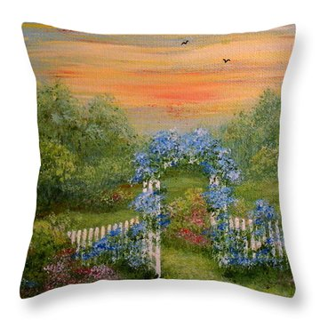 Paradise Throw Pillow by Leea Baltes