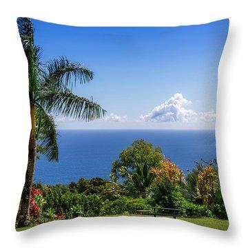 Paradise Picnic Throw Pillow