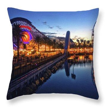 Paradise Pier Sunset Throw Pillow