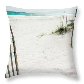 Paradise Scenery Throw Pillow by Shelby  Young