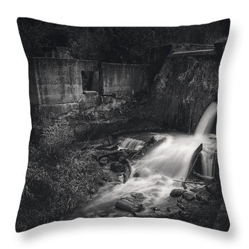 Paradise Springs Dam And Turbine House Ruins Throw Pillow