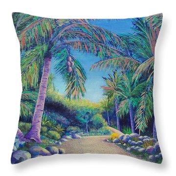 Paradise Throw Pillow by Susan DeLain