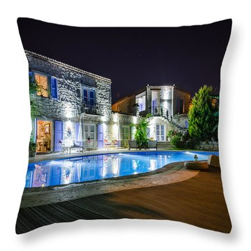 Paradise Under The Stars In Alacati  Throw Pillow