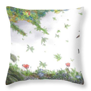 Paradise Without War Throw Pillow