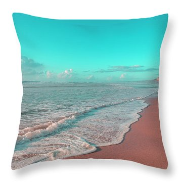 Paradisiac Beaches Throw Pillow