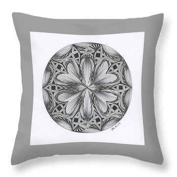 Paradoxical Zendala Throw Pillow