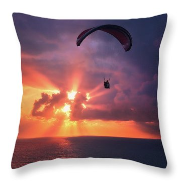 Crack The Skye Throw Pillow