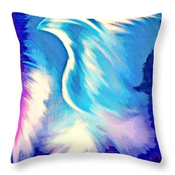 Throw Pillow featuring the digital art Parakletos by Jessica Eli