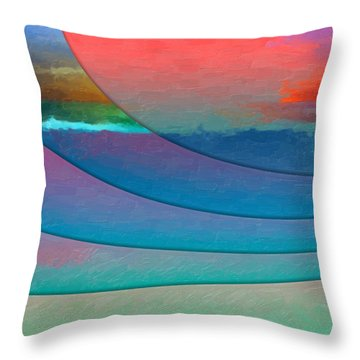 Parallel Dimensions - Submerged Throw Pillow by Serge Averbukh