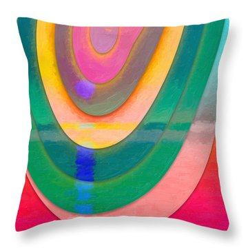 Parallel Dimensions - The Descent Throw Pillow by Serge Averbukh