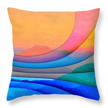Parallel Dimensions - The Sacred Mountain Throw Pillow by Serge Averbukh