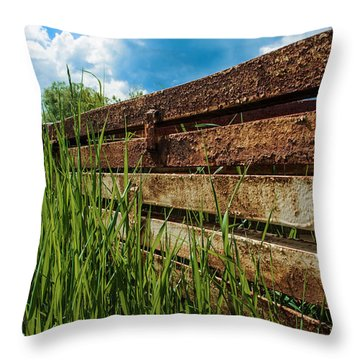 Throw Pillow featuring the photograph Parallel Memories by Rhys Arithson