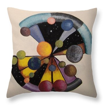 Parallel  Universe Throw Pillow by Steve  Hester