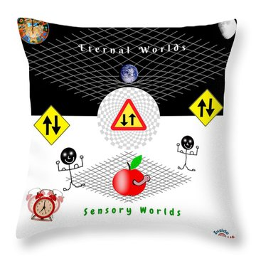 Parallel Worlds Throw Pillow