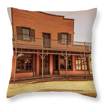 Paramount Ranch Saloon Throw Pillow
