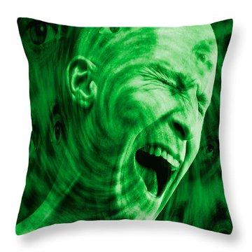 Paranoid Personality Disorder Throw Pillow