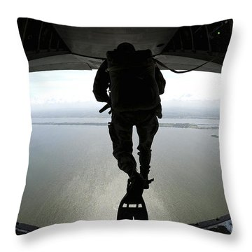 Pararescuemen Train On The Banana River Throw Pillow by Stocktrek Images