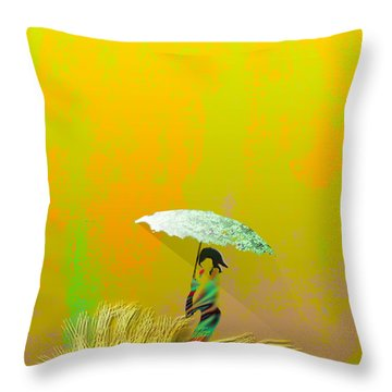 Parasol Throw Pillow by Asok Mukhopadhyay