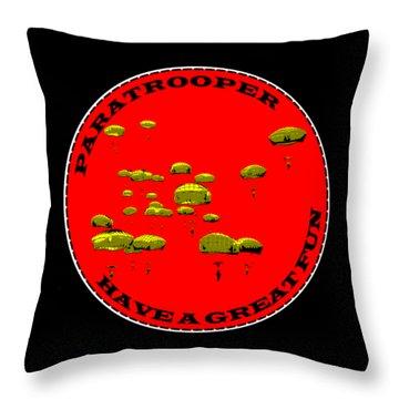 Paratrooper Fun Throw Pillow