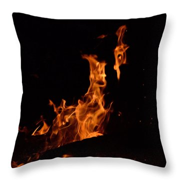 Pareidolia Fire Throw Pillow