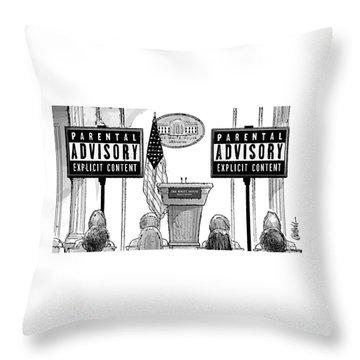 Parental Advisory Explicit Content Throw Pillow
