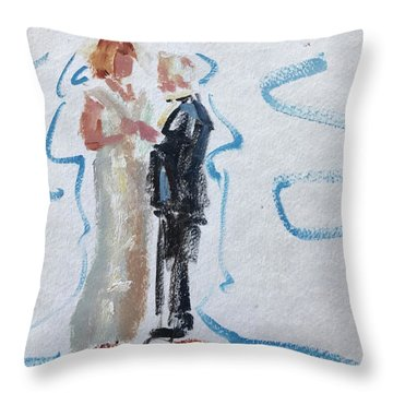 Parents Of The Bride Throw Pillow